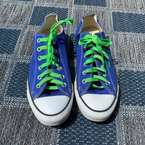 Converse All Star Blue Low Top Men's 8 Womens 10